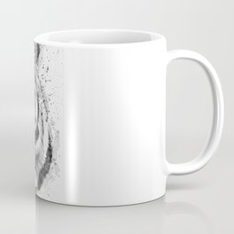 Black And White Half Faced Tiger Coffee Mug
