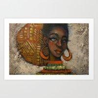 Uhuru's Daughter Art Print