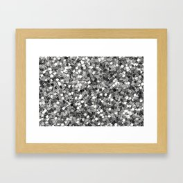 Silver Party Sequins Framed Art Print