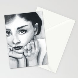 Audrey Hepburn, watercolour Stationery Cards
