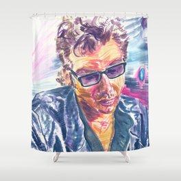 "Jurassic Park : Jeff Goldblum/Ian Malcom : ""Chaotician 2 / 4"" Shower Curtain"