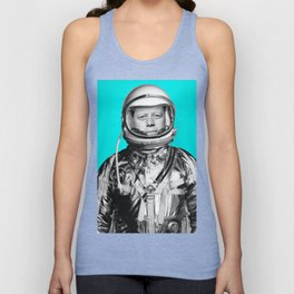 "JFK ASTRONAUT (or ""All Systems Are JFK"") Unisex Tank Top"