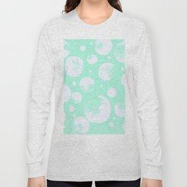 Snowballs-Light turquoise backgroud Long Sleeve T-shirt
