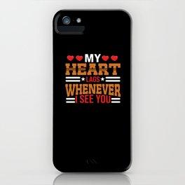 Gaming Love Gamer Partnership Shirt Design iPhone Case