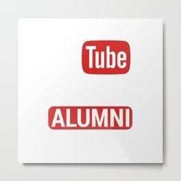 YouTube University Alumni Metal Print