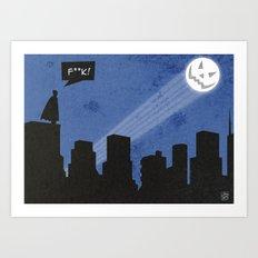 Bat-loween Art Print