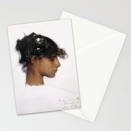 John Singer Sargent - Rosina Ferrara, Head of a Capri Girl Stationery Cards