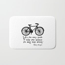 Life is like riding a bicycle... Bath Mat