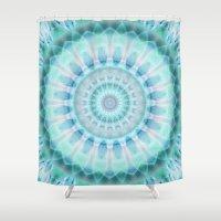 spiritual Shower Curtains featuring Spiritual purity by Christine baessler