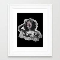 geode Framed Art Prints featuring Geode Face by hunnydoll