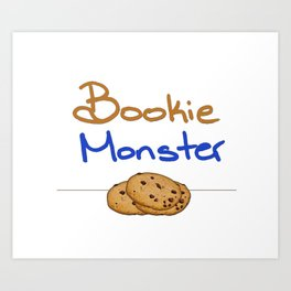 Bookie Monster 2 Art Print