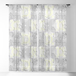 Thai Ridgeback Pattern Sheer Curtain