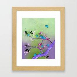 The Early Birds and the Little Elephants Framed Art Print