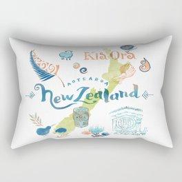 Drawings from New Zealand Rectangular Pillow