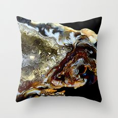 Agate Mineral Throw Pillow