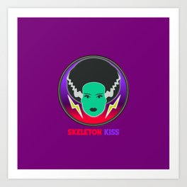 Bride of Neon Frankenstein Art Print