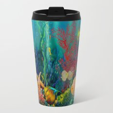 Undersea Art With Coral Travel Mug