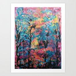 Tropical spill Art Print
