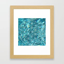 Flower of life in the water Framed Art Print