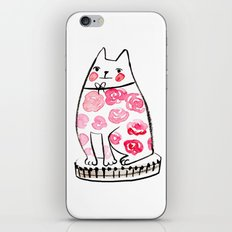 Flower Cat  iPhone & iPod Skin