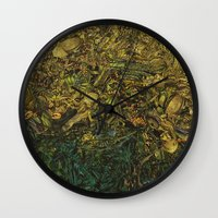 green arrow Wall Clocks featuring Green Arrow  by MelissaMoffatCollage