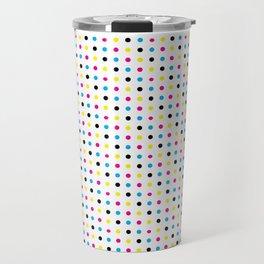 Light CMYK Polka Dots Travel Mug