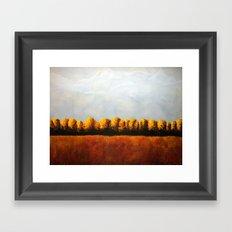 Treeline in Fall Framed Art Print