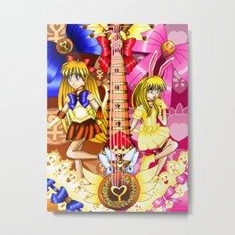 Sailor Mew Guitar #27 - Sailor Venus & Mew Berry Metal Print