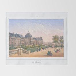 Les tuileries Paris France Throw Blanket
