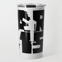 AR-15 (Silver/Black) Travel Mug