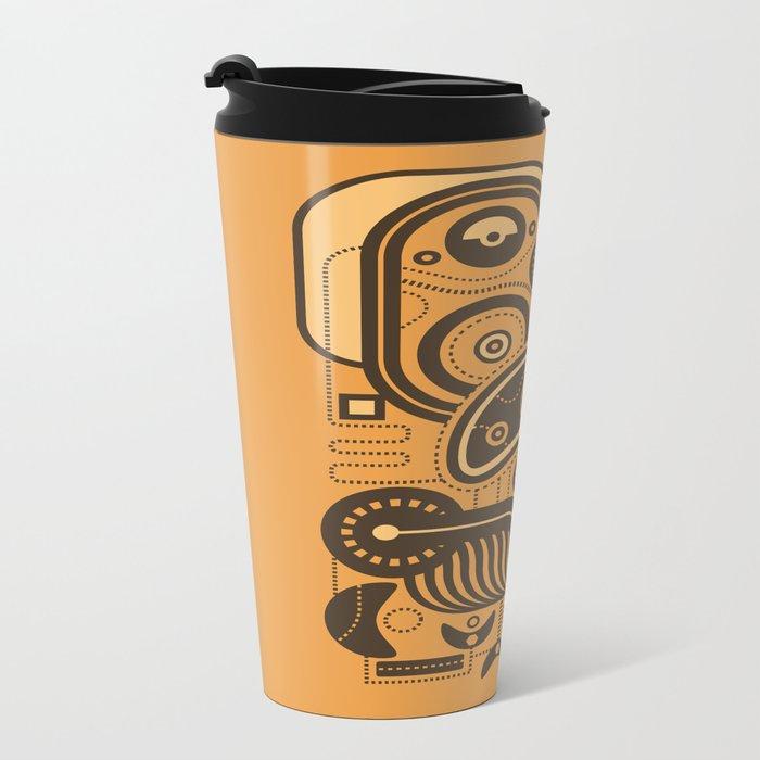 Nonsensical Doodle #3 Metal Travel Mug