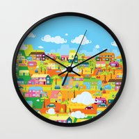 the neighbourhood Wall Clocks featuring Neighbourhood by James Thornton