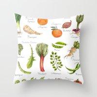calendar Throw Pillows featuring Calendar-January thru June by Brooke Weeber