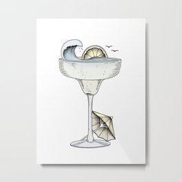 Summer Cocktail Metal Print