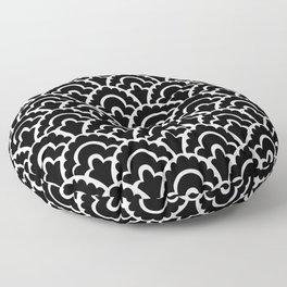 Fan Pattern Black and White 116 Floor Pillow