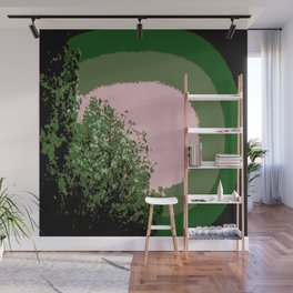 Mod Trees Green on Green Wall Mural