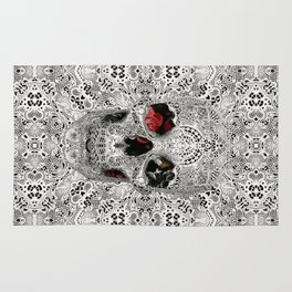 Lace Skull Light Rug