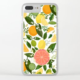 Punch Bowl Pattern Clear iPhone Case