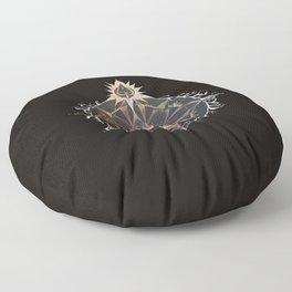 Saraswati Mandala Black Floor Pillow