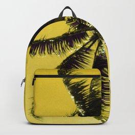 Palm Tree Upshot In Lemon Yellow Sky Art Photo Backpack
