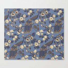 Peacock Garden {Eastern Blue} Canvas Print