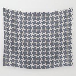 Modern Grey Pin wheel Wall Tapestry