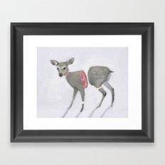 Poor Bambi Framed Art Print