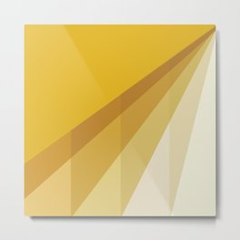 New Heights - Gold Metal Print