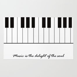 Music is the delight of the soul Rug