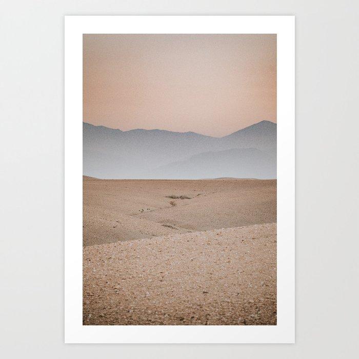 Pastel Skies at the Agafay desert in Morocco Art Print