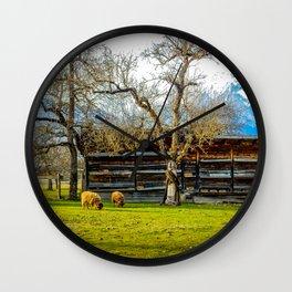 Peaceful Spring Meadow Wall Clock