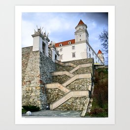 Stairs leading to Slovakian Castle Art Print