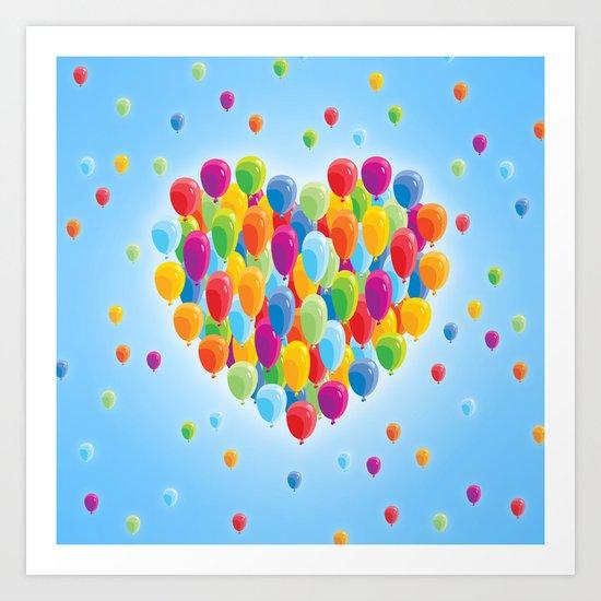 Balloon Love: Heart Art Print