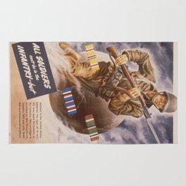 Vintage poster - U.S. Infantry Rug